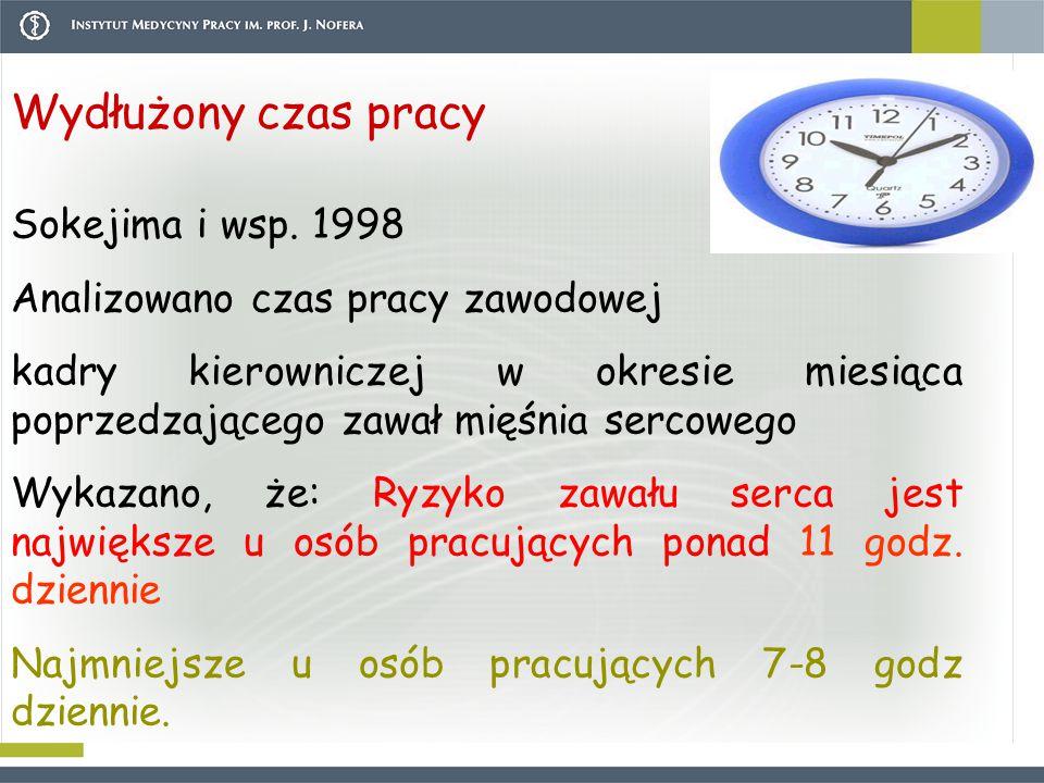 Wydłużony czas pracy Sokejima i wsp.