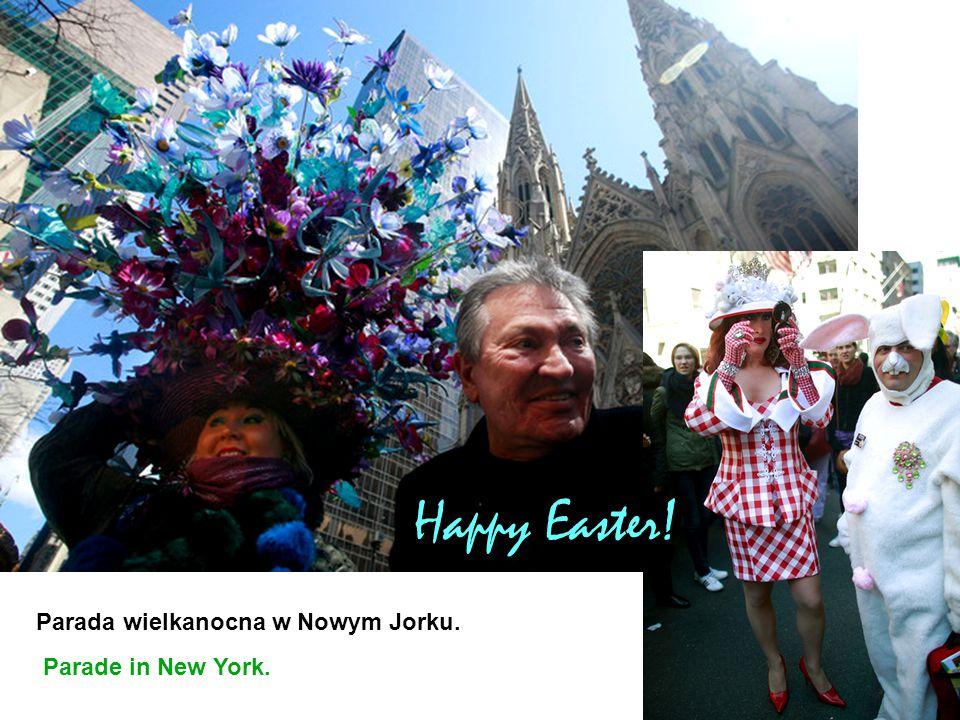 Parada wielkanocna w Nowym Jorku. Parade in New York. Happy Easter!
