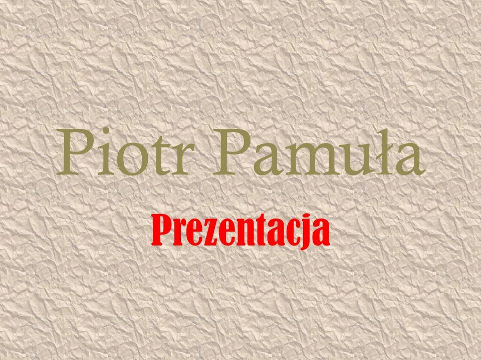 Piotr Pamu ł a Prezentacja