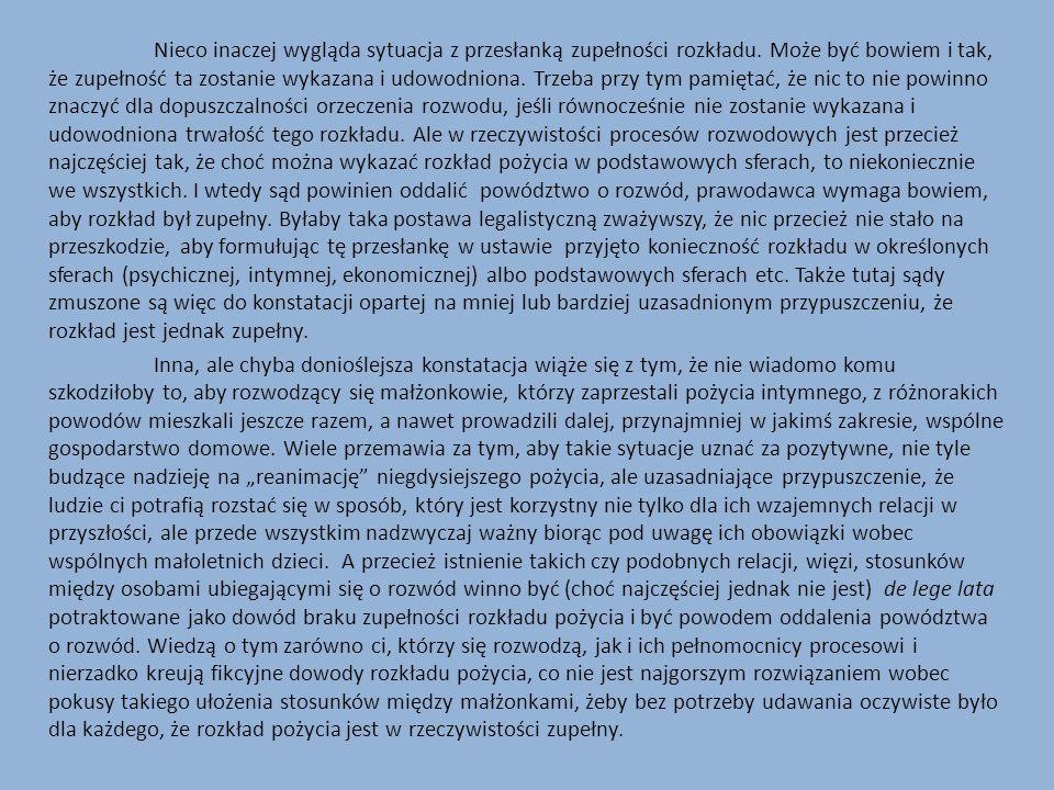 Osiem lat po publikacji naszego artykułu postulat dopuszczalności stwierdzania rozwodu także w polskich urzędach stanu cywilnego przedstawił redaktor A.