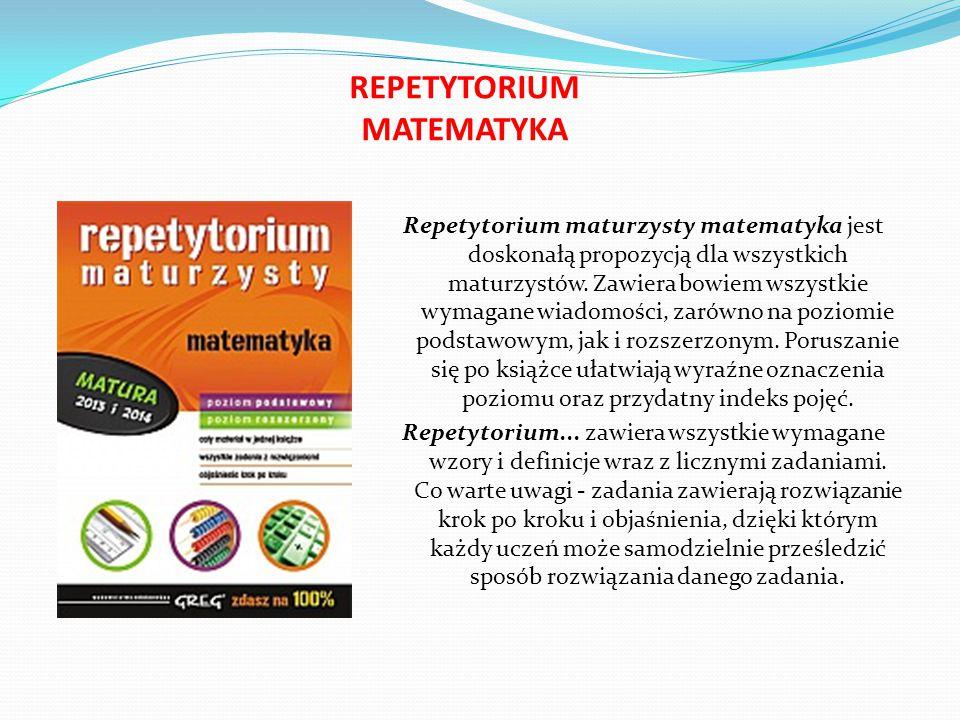 REPETYTORIUM JĘZYK ANGIELSKI I NIEMIECKI Repetytorium... zawiera część dotyczącą egzaminu maturalnego pisemnego wraz z podpowiedziami, jak się do nieg