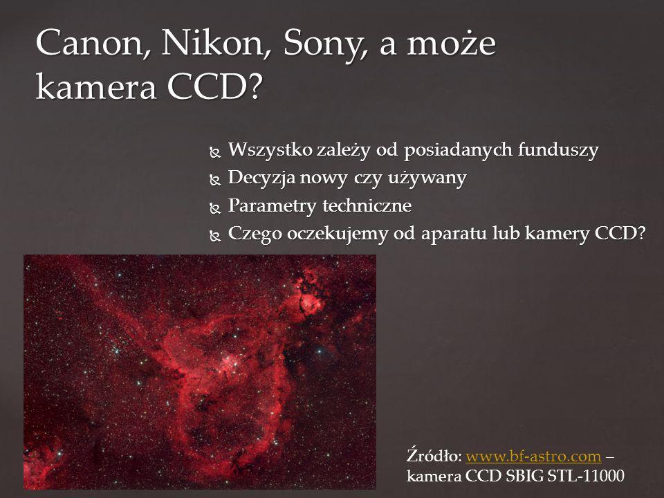 WWWWszystko zależy od posiadanych funduszy DDDDecyzja nowy czy używany PPPParametry techniczne CCCCzego oczekujemy od aparatu lub kamery CCD.