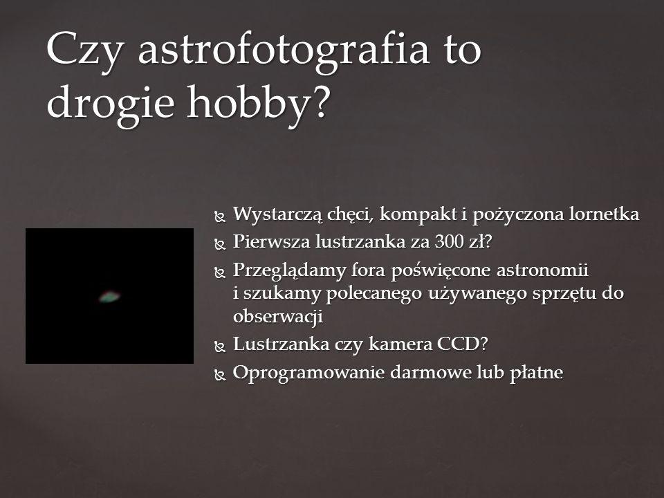  Wystarczą chęci, kompakt i pożyczona lornetka  Pierwsza lustrzanka za 300 zł.
