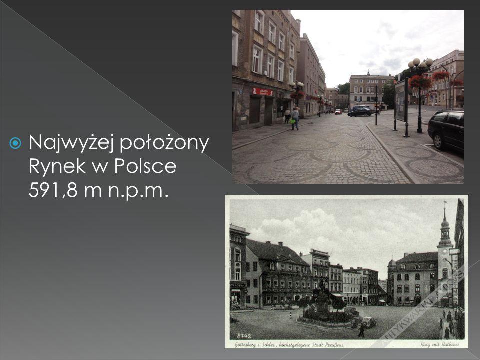  Najwyżej położony Rynek w Polsce 591,8 m n.p.m.