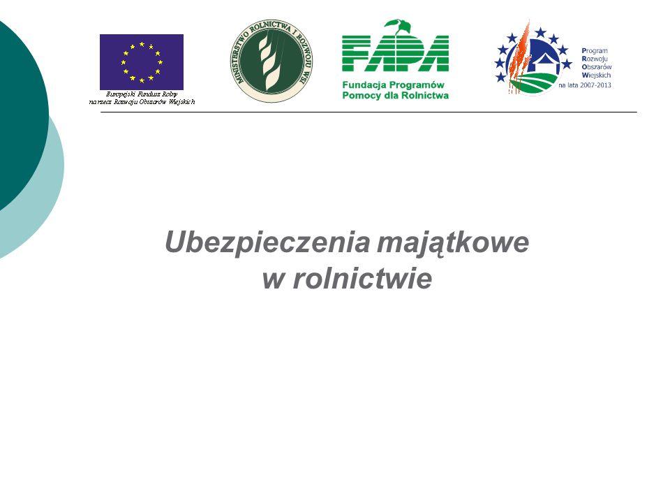 Składka ubezpieczeniowa OC Wysokość składki jest uzależniona od powierzchni gospodarstwa i prowadzonej działalności.