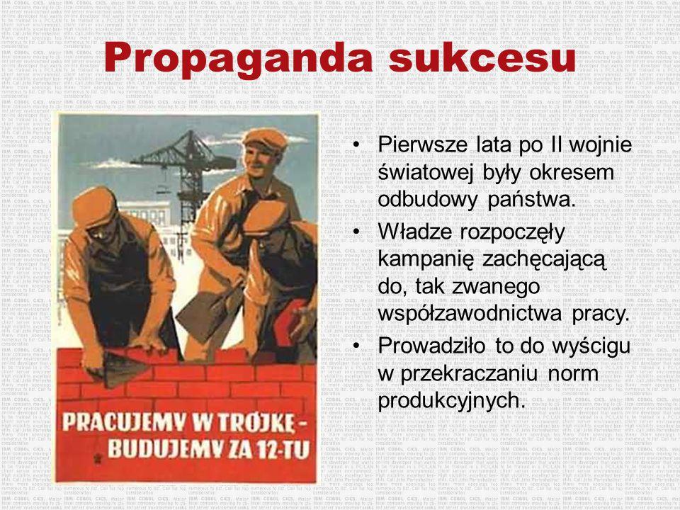 Pierwsze lata po II wojnie światowej były okresem odbudowy państwa. Władze rozpoczęły kampanię zachęcającą do, tak zwanego współzawodnictwa pracy. Pro