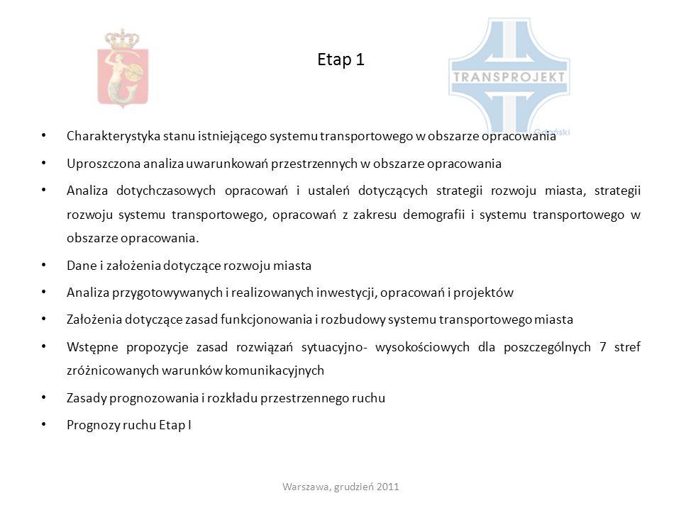 Etap 1 Charakterystyka stanu istniejącego systemu transportowego w obszarze opracowania Uproszczona analiza uwarunkowań przestrzennych w obszarze opra