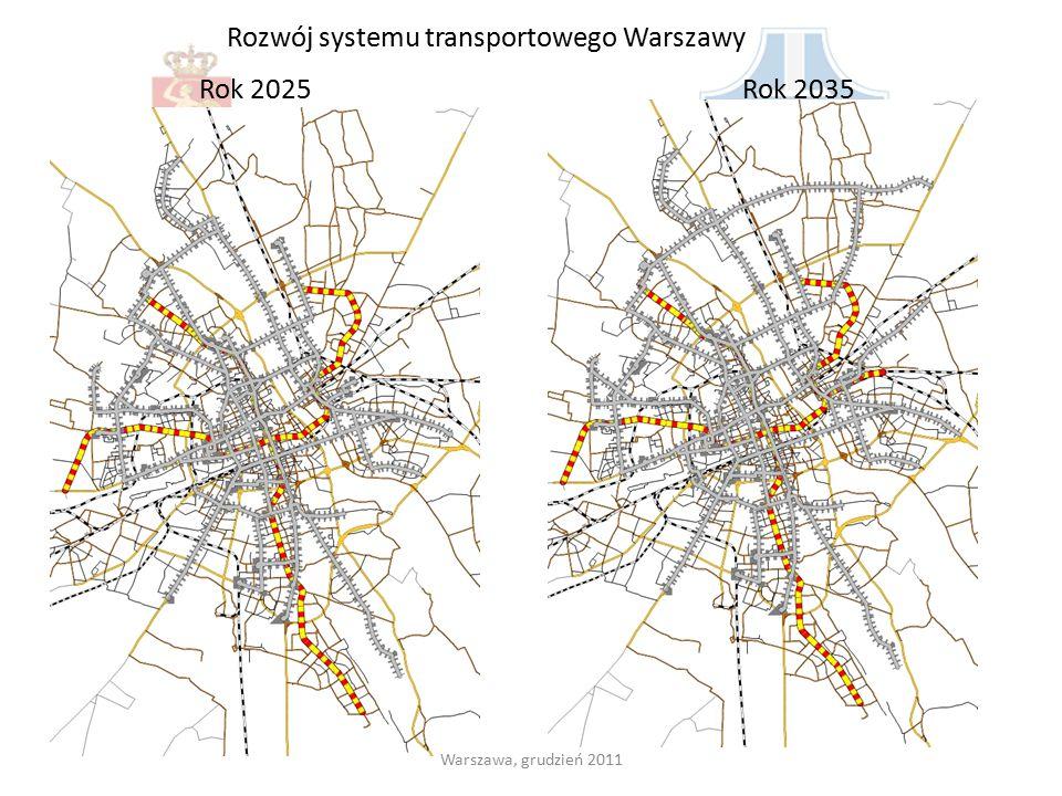 Rozwój systemu transportowego Warszawy Rok 2025Rok 2035 Warszawa, grudzień 2011