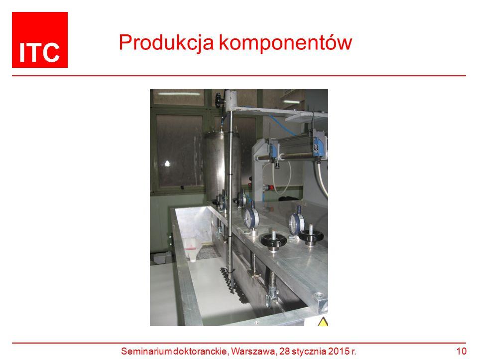 ITC Produkcja komponentów Seminarium doktoranckie, Warszawa, 28 stycznia 2015 r.10