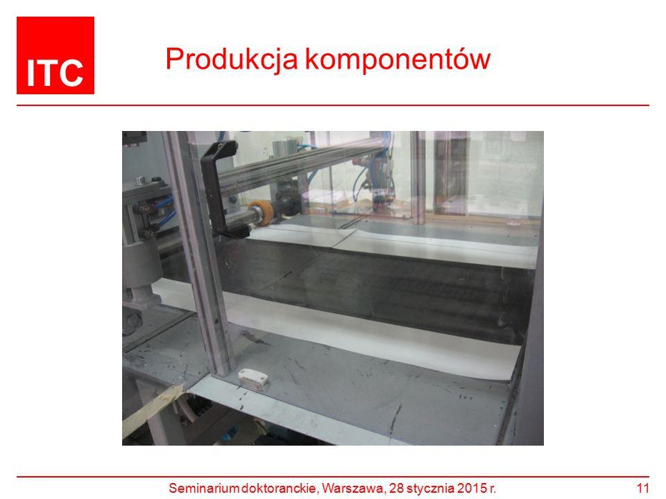 ITC Produkcja komponentów Seminarium doktoranckie, Warszawa, 28 stycznia 2015 r.11