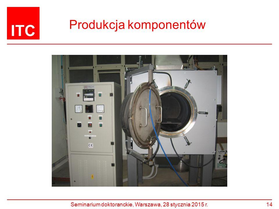 ITC Produkcja komponentów Seminarium doktoranckie, Warszawa, 28 stycznia 2015 r.14