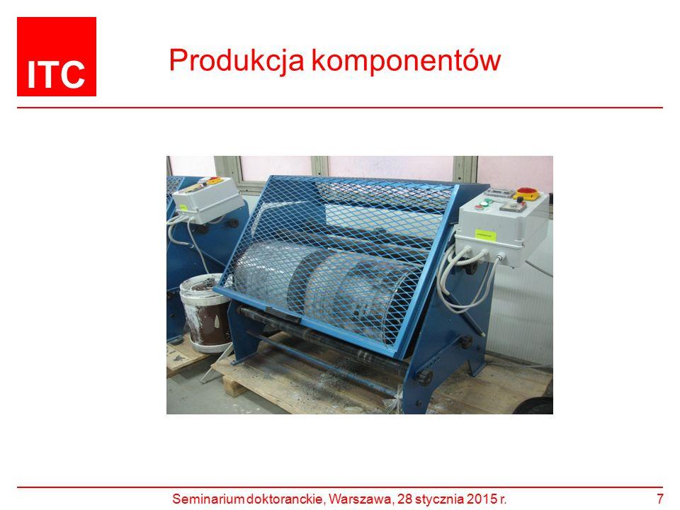 ITC Produkcja komponentów Seminarium doktoranckie, Warszawa, 28 stycznia 2015 r.7