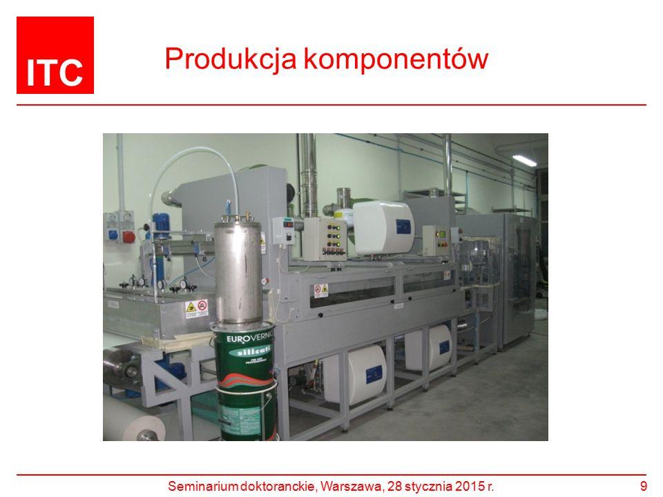 ITC Produkcja komponentów Seminarium doktoranckie, Warszawa, 28 stycznia 2015 r.9
