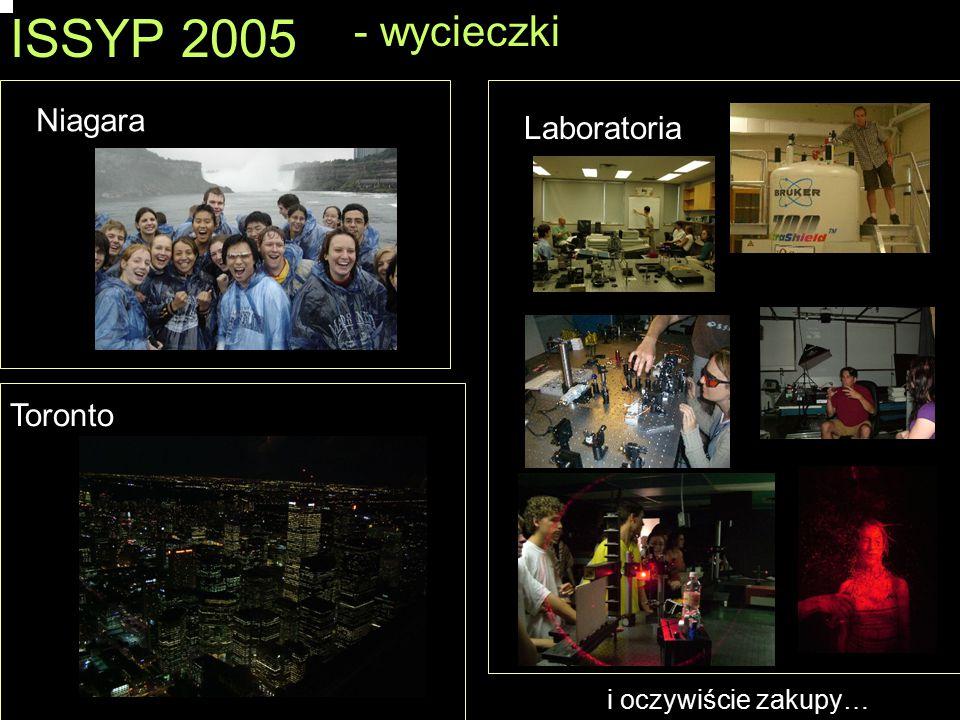ISSYP 2005 - wycieczki Laboratoria Niagara Toronto i oczywiście zakupy…