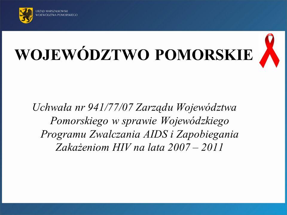 WOJEWÓDZTWO POMORSKIE Uchwała nr 941/77/07 Zarządu Województwa Pomorskiego w sprawie Wojewódzkiego Programu Zwalczania AIDS i Zapobiegania Zakażeniom