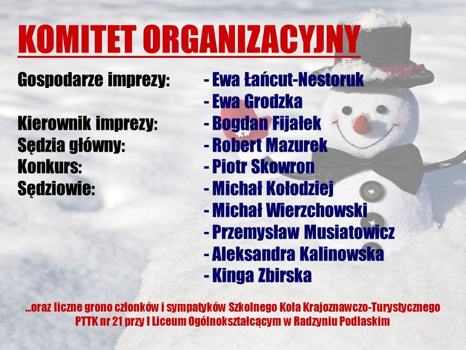 Organizatorzy XI Zimy w Mieście 2015 jeszcze raz składają serdeczne podziękowania wszystkim instytucjom, firmom i osobom prywatnym, dzięki którym możliwe było przygotowanie i przeprowadzenie naszej imprezy.