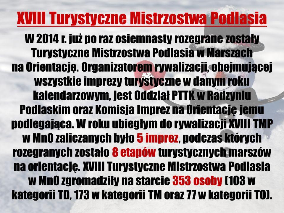 XVIII Turystyczne Mistrzostwa Podlasia W 2014 r.