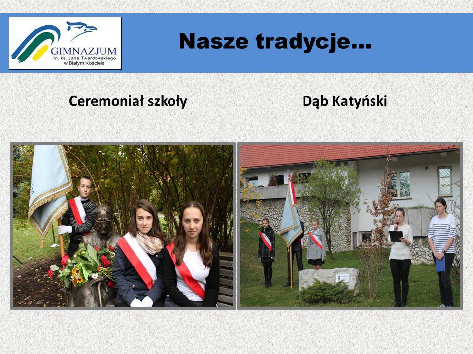 """"""" Ceremoniał szkołyDąb Katyński Nasze tradycje…"""