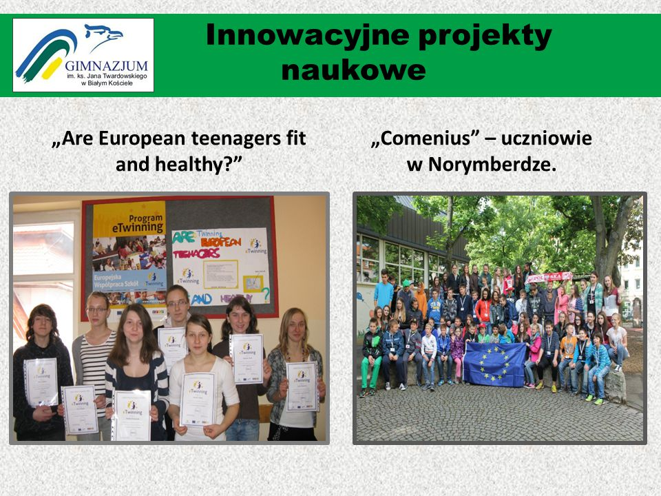 """Are European teenagers fit and healthy ""Comenius – uczniowie w Norymberdze."