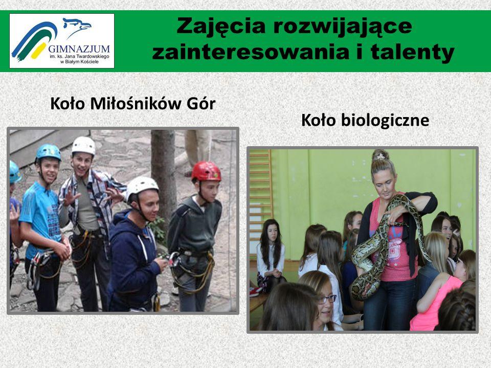 Koło Miłośników Gór Koło biologiczne Zajęcia rozwijające zainteresowania i talenty