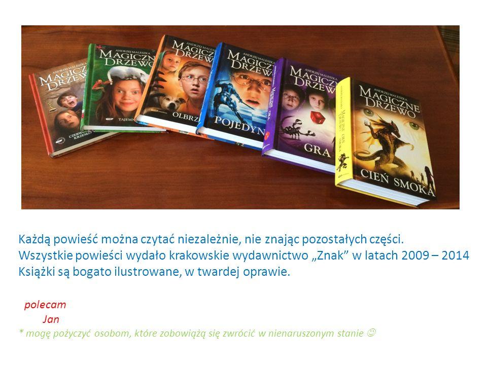 """Cykl powieści """"Magiczne drzewo"""" łączy współczesne realia i magiczne zdarzenia, jednocześnie mądrze opowiada o ważnych sprawach. Opowieść o szczęściu,"""
