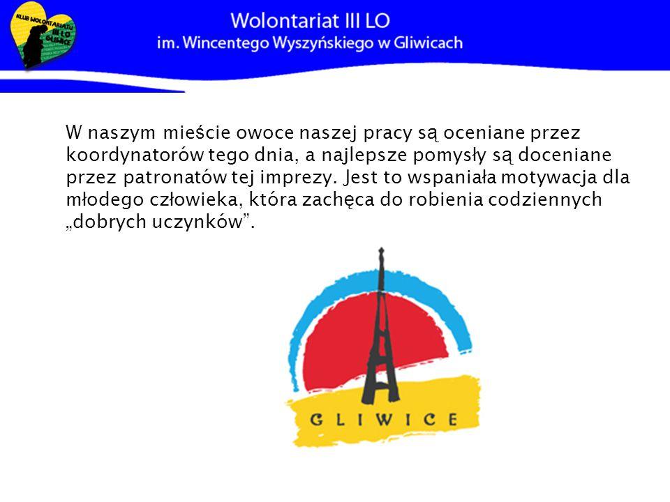 Wyj ą tkowe polskie ś wi ę to organizowane przez Fundacje ARKA, które w Gliwicach, jest patronowane przez samego prezydenta naszego miasta Zygmunta Fr