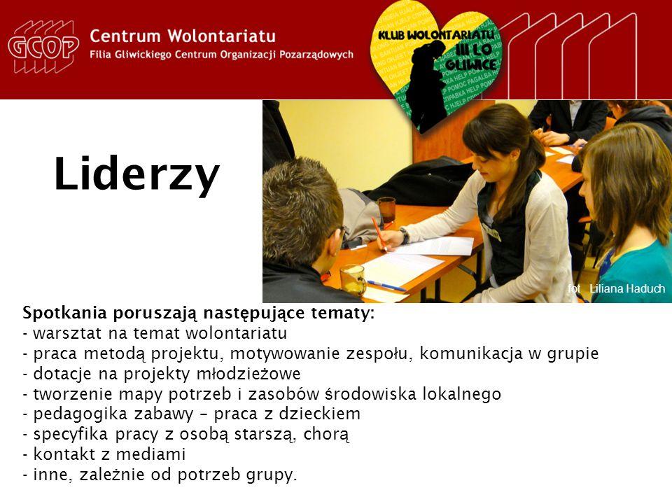 Projekt Szkolni Liderzy Wolontariatu fot Liliana Haduch