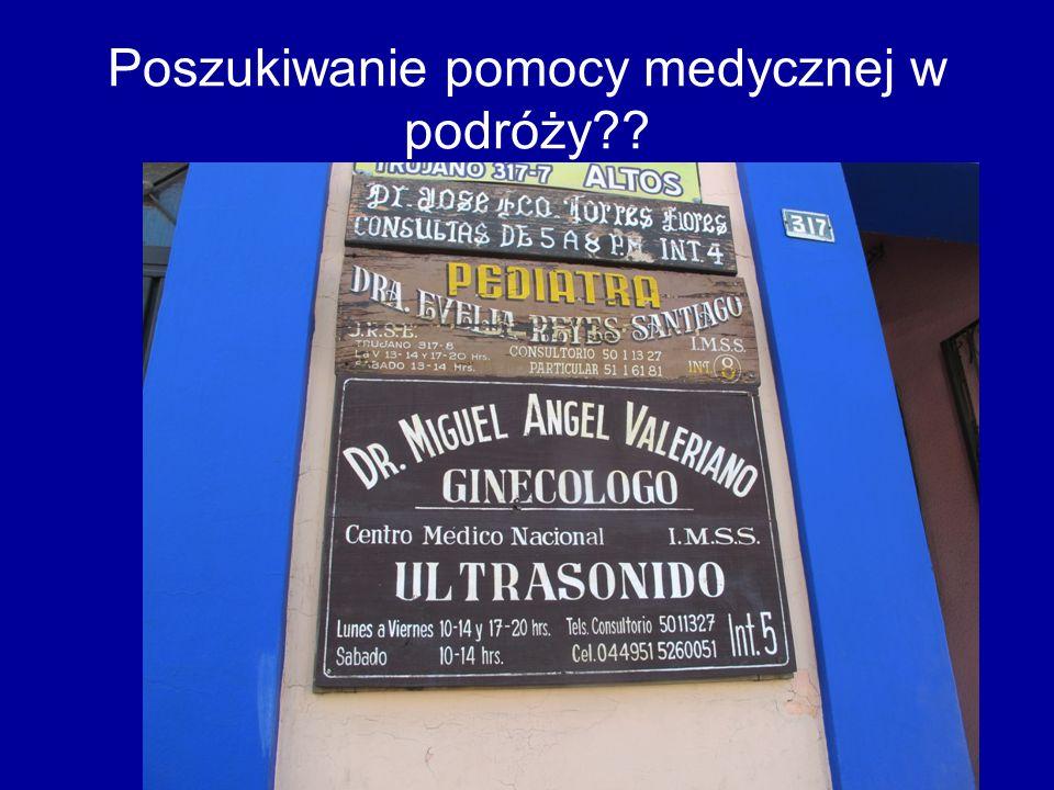 Poszukiwanie pomocy medycznej w podróży??