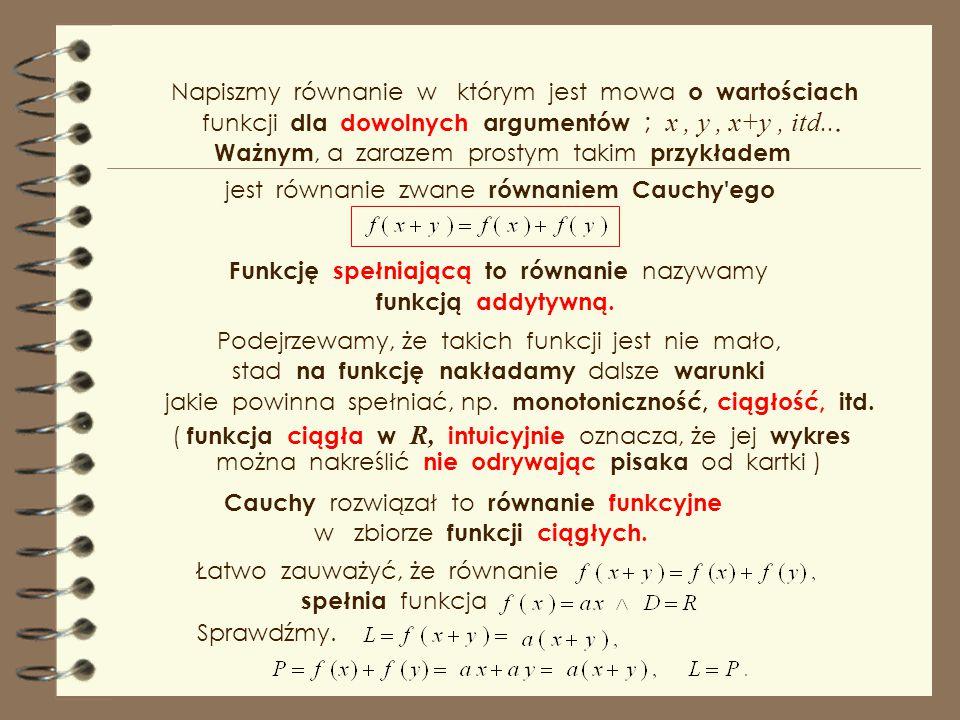 wskażmy niektóre z nich : itd.… Wykresy tych funkcji są symetryczne w/g osi y. rozwiązaniami równania są z kolei funkcje parzyste, Teraz dla wszystkic
