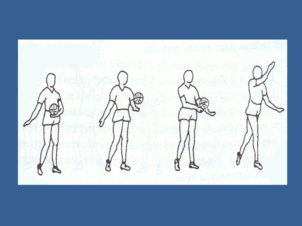 Zagrywka boczna zagrywający ustawia się bokiem do linii końcowej boiska w rozkroku, tak aby ramię zagrywającego było dalszym.
