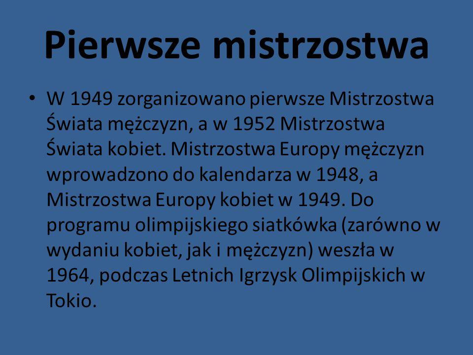 Początek w Polsce Reprezentacja polskich siatkarek pierwszy mecz rozegrała w Warszawie 14 lutego 1948, pokonując Czechosłowację 3:1.