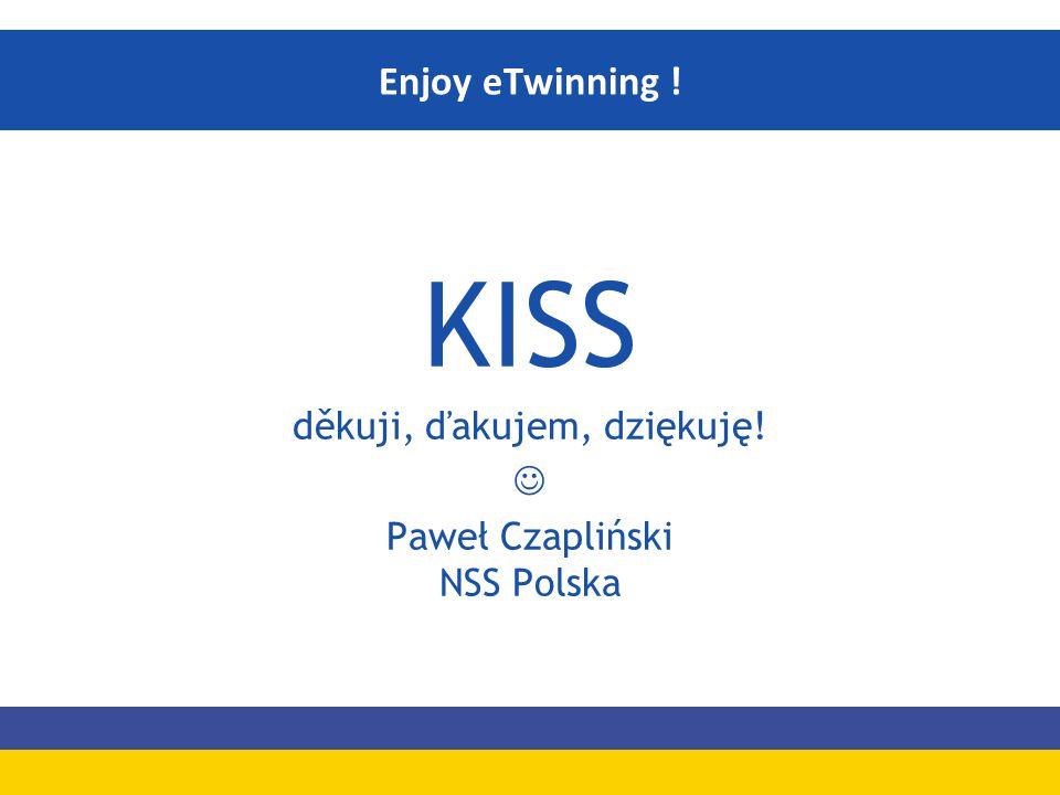 KISS děkuji, ďakujem, dziękuję! Paweł Czapliński NSS Polska Enjoy eTwinning !