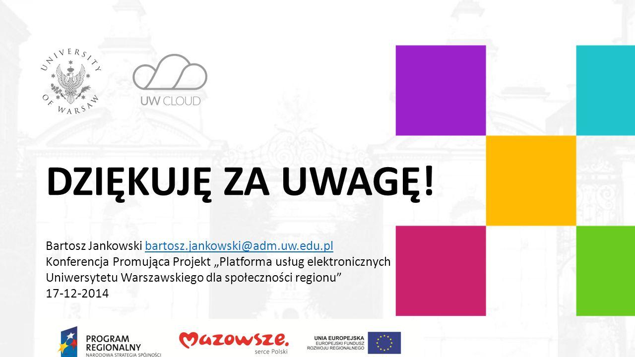 DZIĘKUJĘ ZA UWAGĘ! Projekt