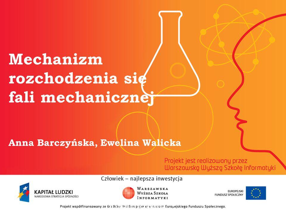 Mechanizm rozchodzenia się fali mechanicznej Anna Barczyńska, Ewelina Walicka informatyka + 2