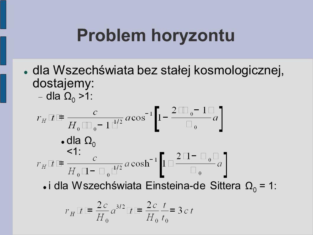 Mikrofalowe promieniowanie tła: opis zaburzeń Interpretacja: rozkład Bosego-Einsteina opisuje stan równowagi fotonów w sytuacji, kiedy mamy nadmiar całkowitej energii w stosunku do ilości fotonów, którym jest ona przypisana.