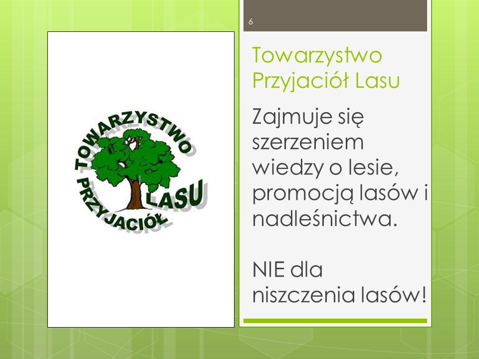 Towarzystwo Przyjaciół Lasu NIE dla niszczenia lasów.