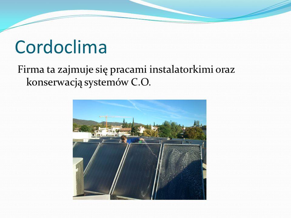 Cordoclima Firma ta zajmuje się pracami instalatorkimi oraz konserwacją systemów C.O.