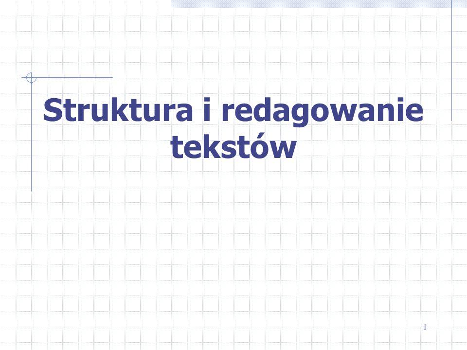 Struktura i redagowanie tekstów 1