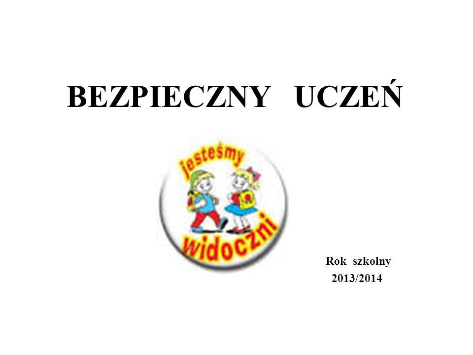 BEZPIECZNY UCZEŃ Rok szkolny 2013/2014