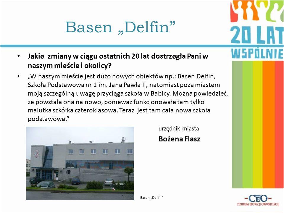 """Basen """"Delfin Jakie zmiany w ciągu ostatnich 20 lat dostrzegła Pani w naszym mieście i okolicy."""