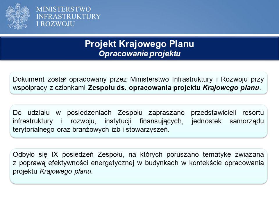 Projekt Krajowego Planu Opracowanie projektu Projekt Krajowego Planu Opracowanie projektu Dokument został opracowany przez Ministerstwo Infrastruktury