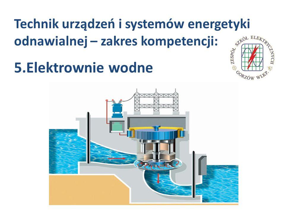 Technik urządzeń i systemów energetyki odnawialnej – zakres kompetencji: 5.Elektrownie wodne