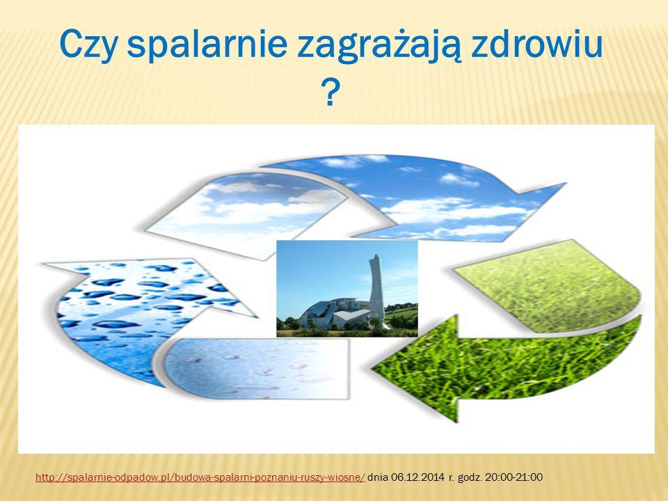 Źródła : 1.http://spalarnie-odpadow.pl/ dnia 4.12.