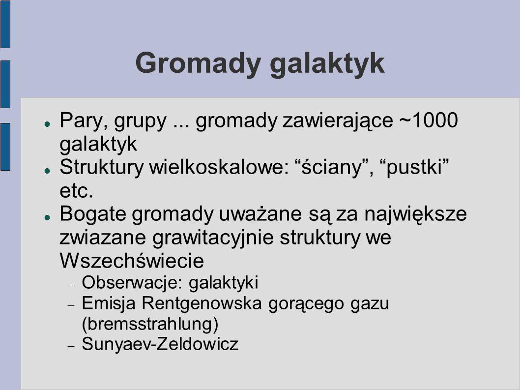 Gromady galaktyk Pary, grupy...