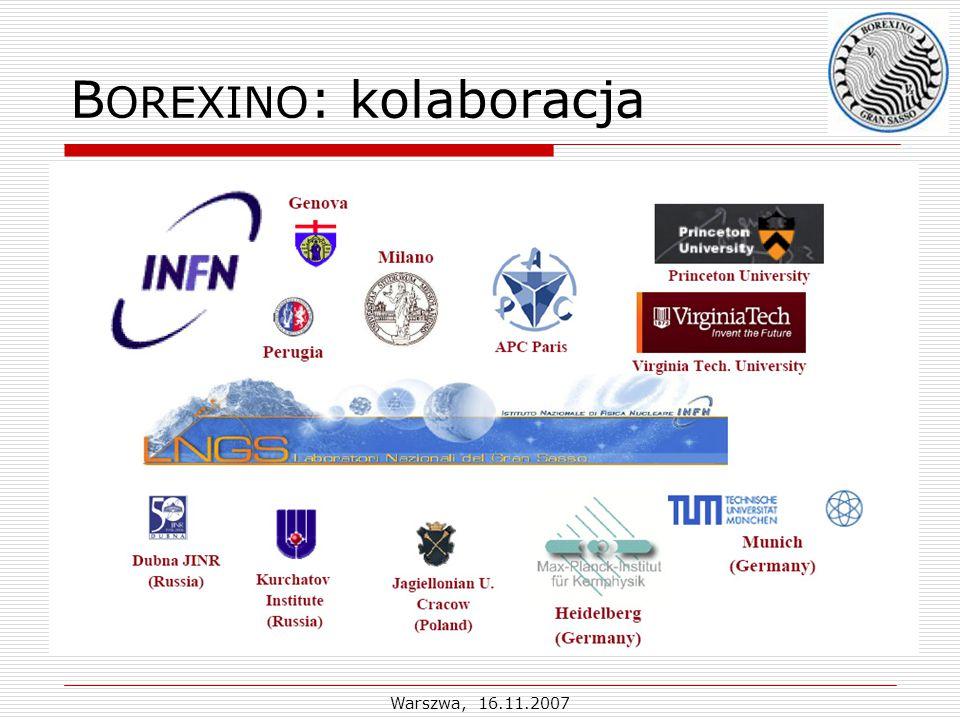 Warszwa, 16.11.2007 B OREXINO : kolaboracja