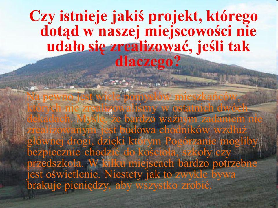 Czy istnieje jakiś projekt, którego dotąd w naszej miejscowości nie udało się zrealizować, jeśli tak dlaczego? Na pewno jest wiele pomysłów mieszkańcó