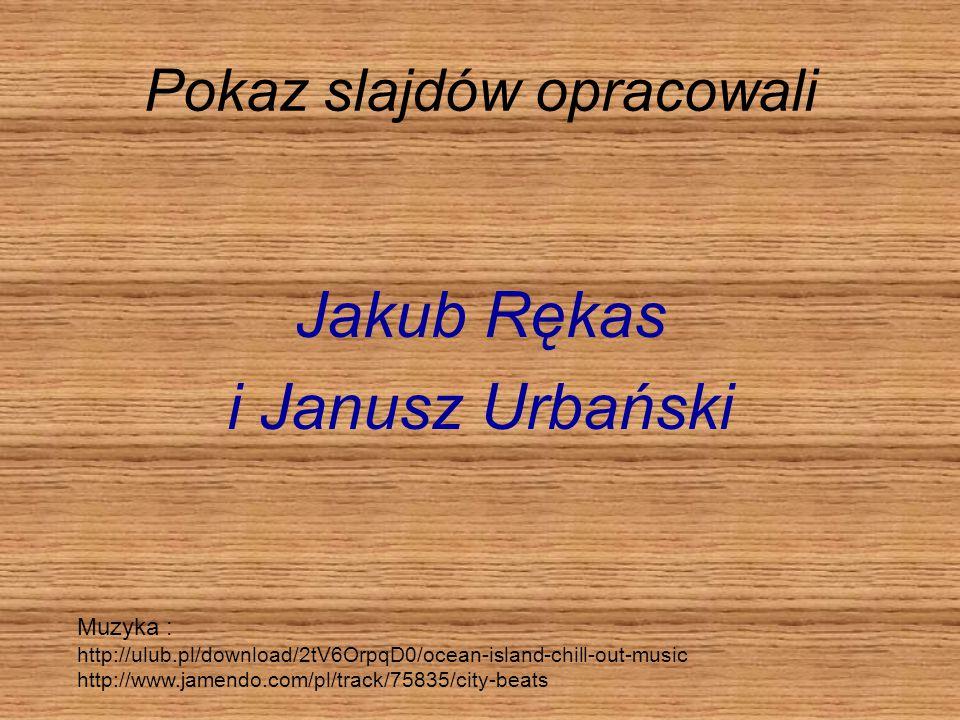 Pokaz slajdów opracowali Jakub Rękas i Janusz Urbański Muzyka : http://ulub.pl/download/2tV6OrpqD0/ocean-island-chill-out-music http://www.jamendo.com/pl/track/75835/city-beats