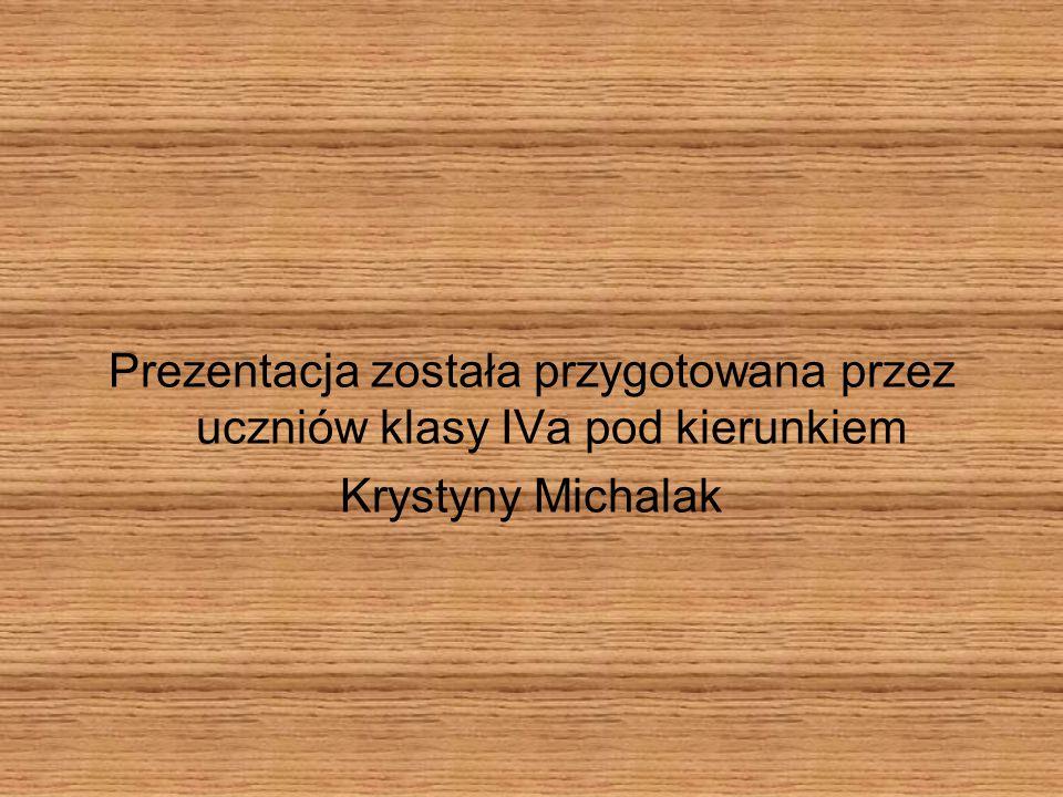 Prezentacja została przygotowana przez uczniów klasy IVa pod kierunkiem Krystyny Michalak