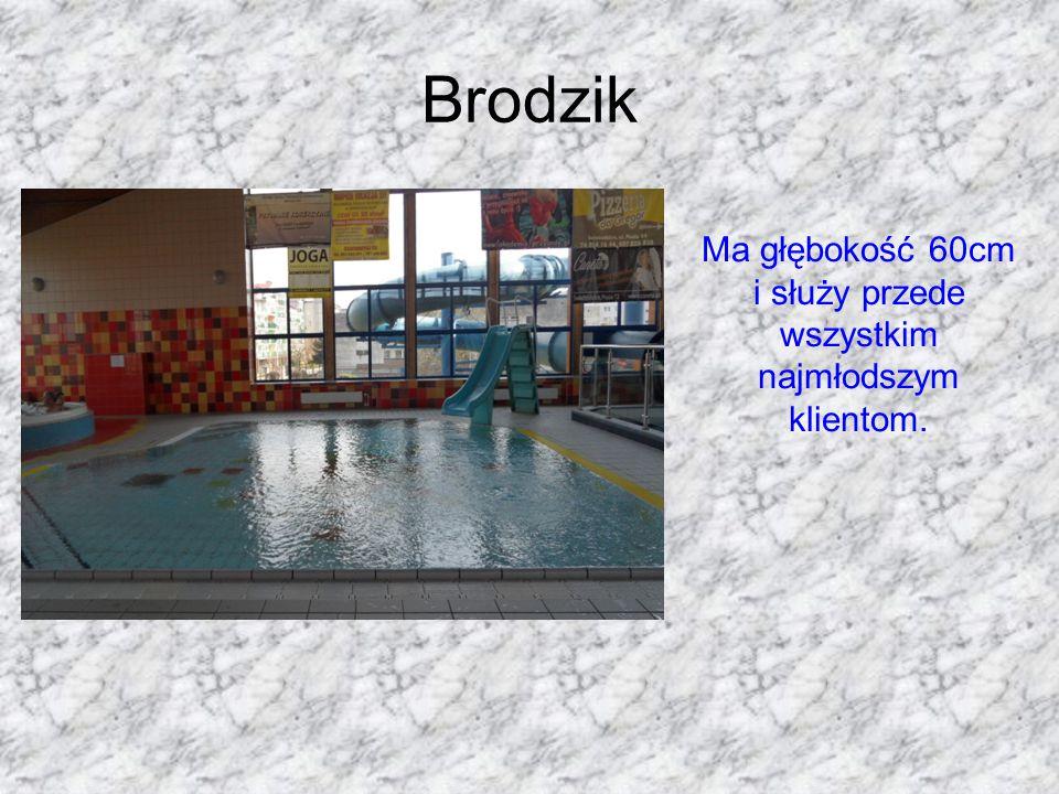 Brodzik Ma głębokość 60cm i służy przede wszystkim najmłodszym klientom.