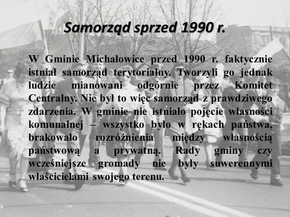 Samorząd sprzed 1990 r. W Gminie Michałowice przed 1990 r.